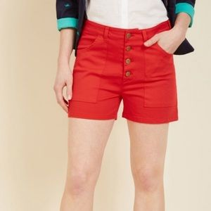 Modcloth Button Fly High Waisted Shorts